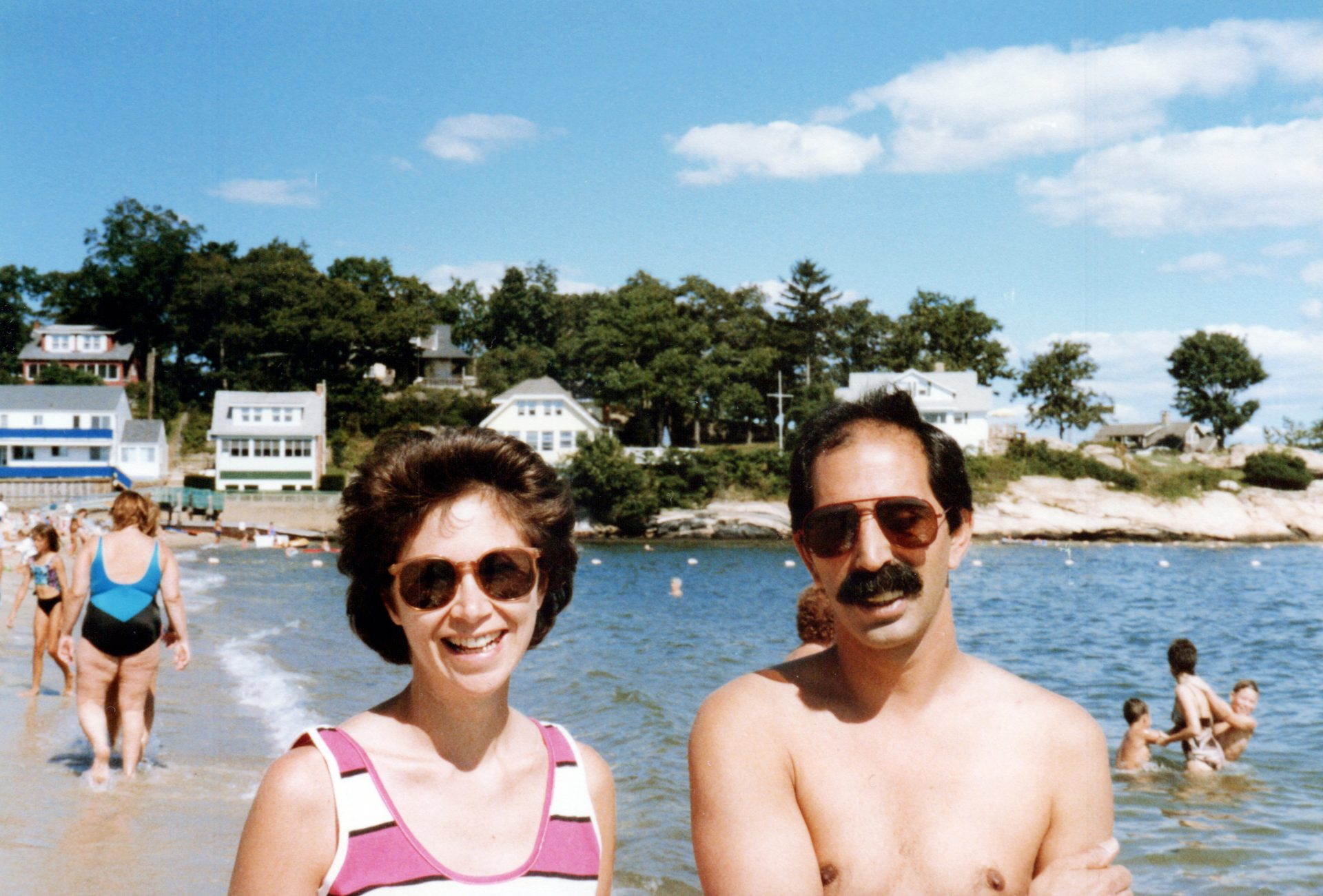 Angie and Jimmy at Point O' Woods Beach, Old Lyme, CT