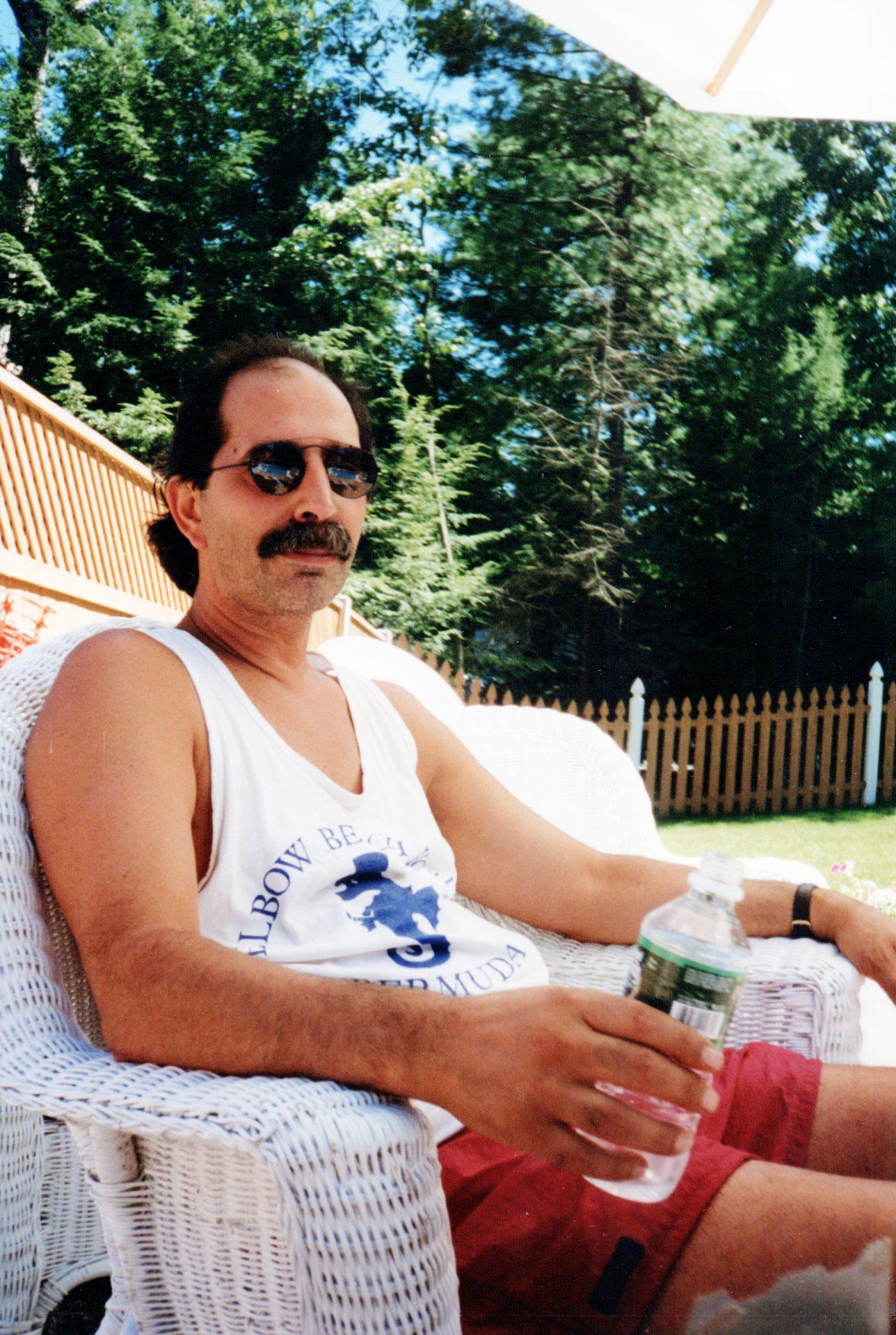 Jim at his pool in Farmington, CT