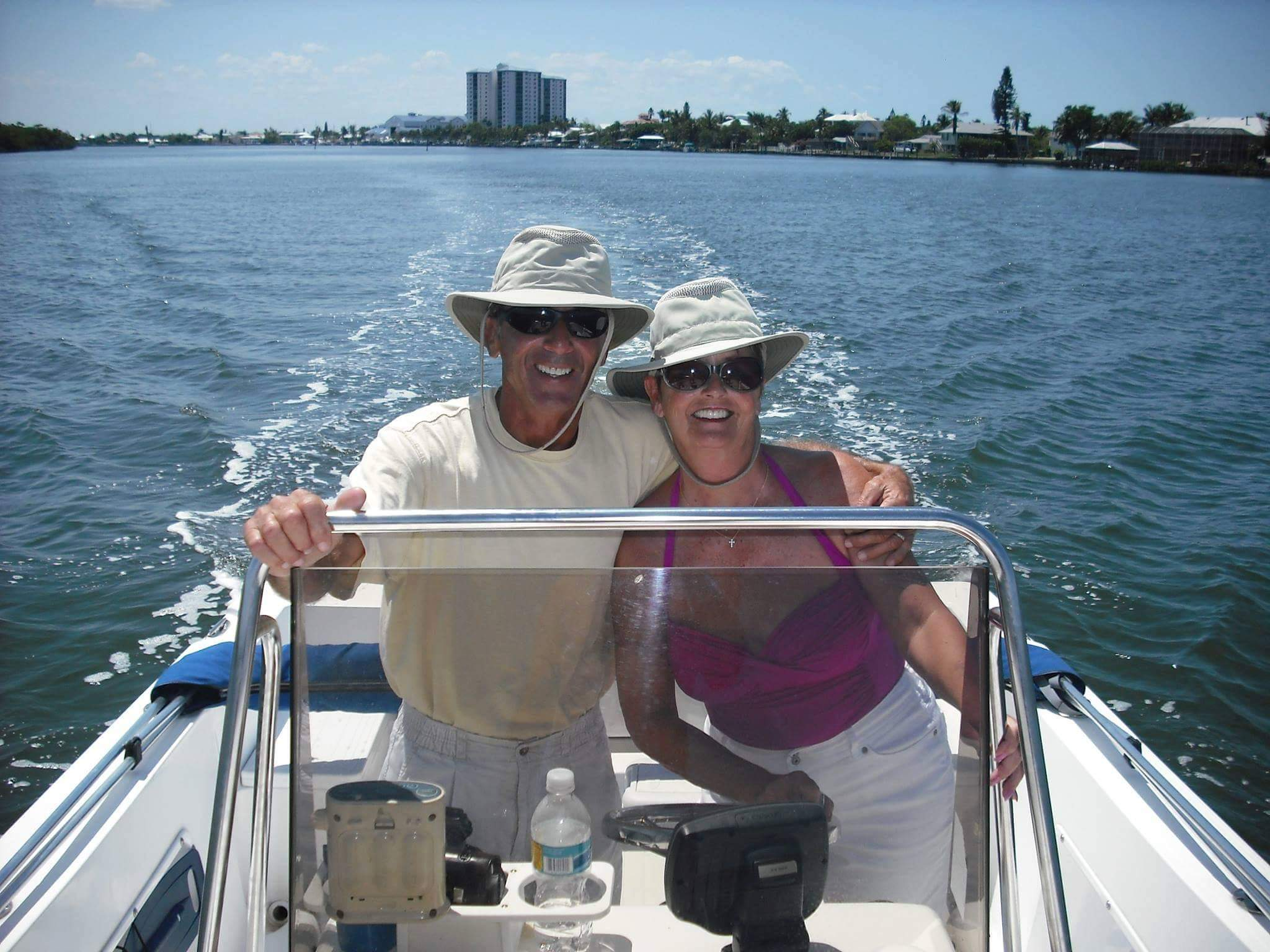 Mike & Marsha Namey together forever. Picture was taken on the Estero River where they lived, loved and fished together. RIP dear friends. ❤️