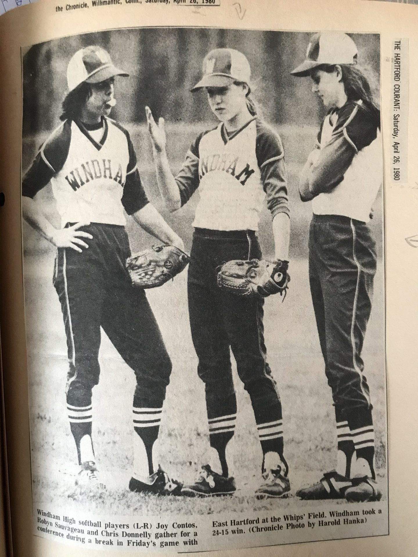 One of many times Joy represented Windham Softball in the Newspapers
