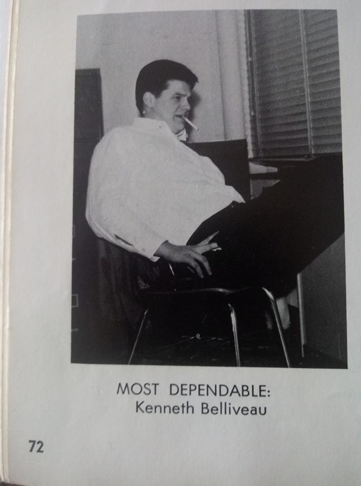 Kenny's yearbook prediction.  We will miss you.   Kenny was the brother of  Gerry, one of my best friends growing up in Leominster.  We knew the family very well.  Frank Scherer