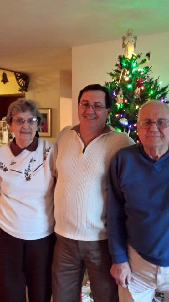 """My Uncle """"Cy"""" and Aunt Shirley......Aunt Shirley, cousin Bill, and my Uncle """"Cy""""."""