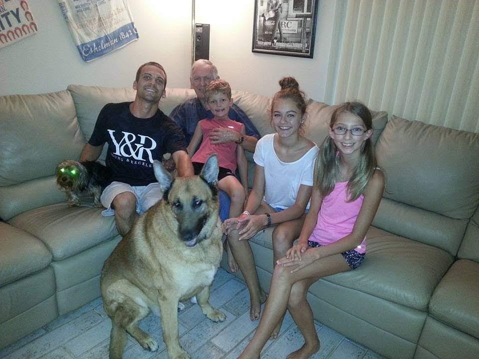 Robert, Pop Pop Wayne, Hudson (Cousin), Skylar (Sister), and Hannah (Cousin)