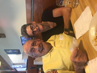 Dad and me enjoying a beer, good times.