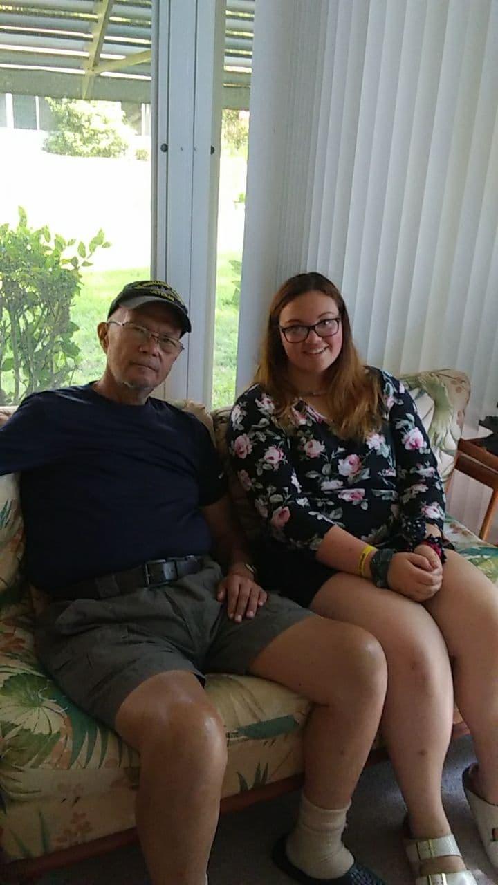 Grandpa with Rosalynn