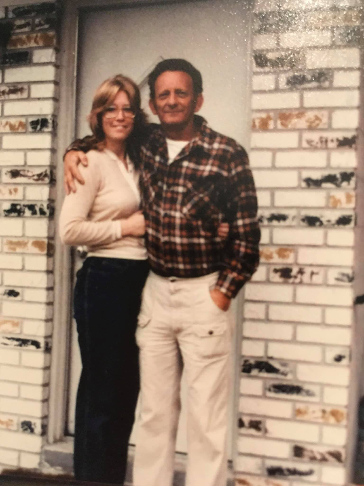 Bob and I shortly after the house was built