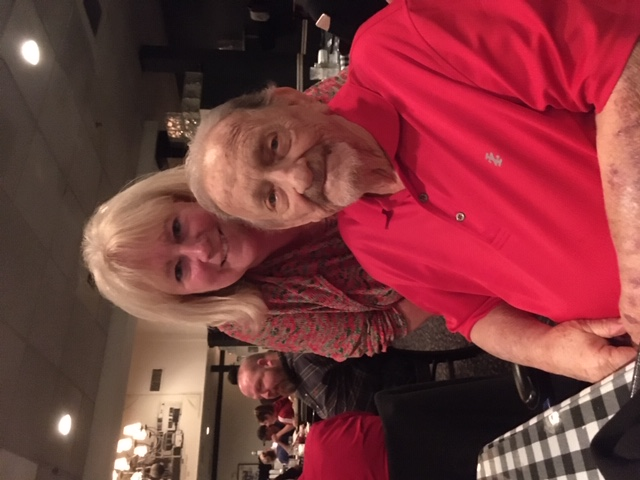 Bob and Kathy at La Cantina for our church Christmas dinner. December 2019