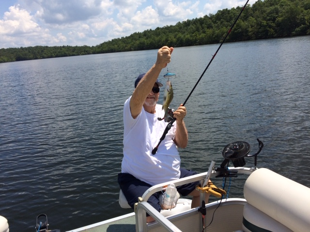 fishing with Dave in Crossville. He did finally catch one bigger than that!