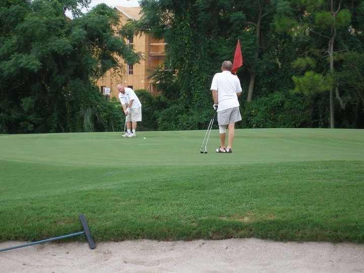Bob and Alvin at Winter Pines Golf Course. They loved playing together.
