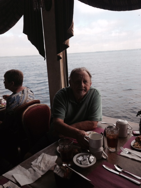 Birthday lunch on the St. Johns River on the Barbara Lee paddle boat. Bob loved the water so much and we enjoyed the day with Alvin and Tiffany. I love you Bob