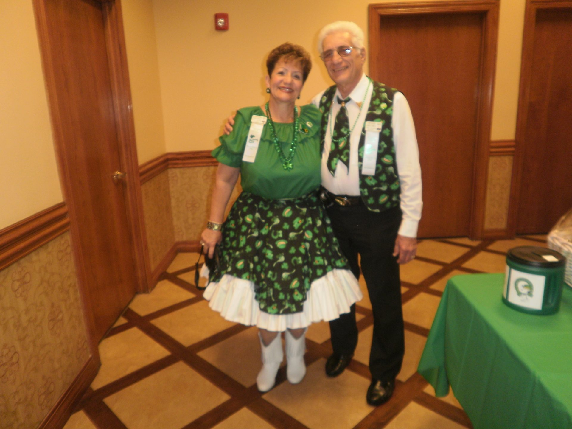 One of his favorite dances was the St. Patty's dance.   Vinnie never had to worry where to take me for our anniversary. lol!