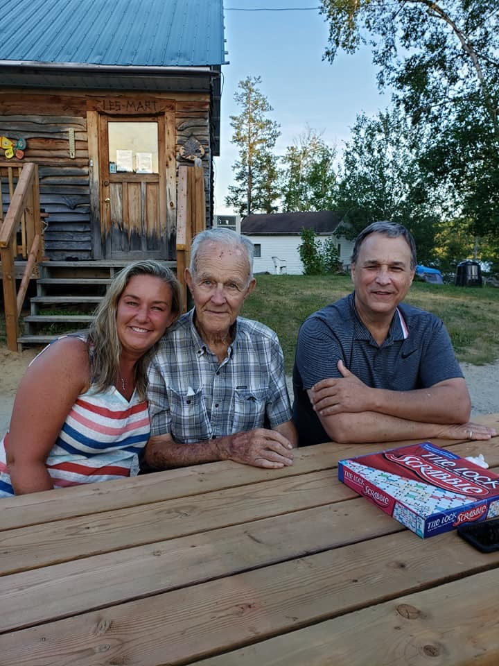 Family reunion in Gogama Ontario, Canada last summer. I think we all thought Uncle Maurice would live forever. Rest In Peace my dear uncle. <br /> <br /> Picture includes Joseph Maurice Tremblay, daughter Joy and nephew Maurice Tremblay.