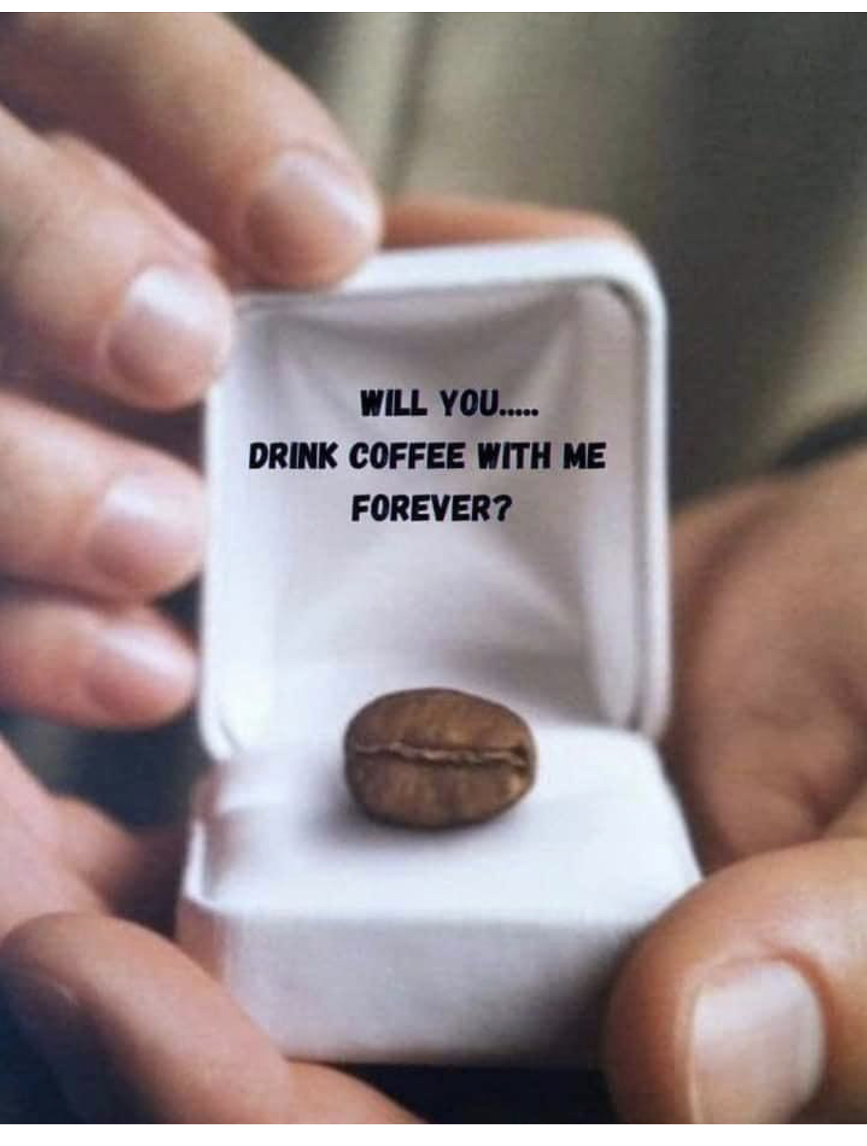 This is from Deanies fb page. Victor of course I'll have coffee with you forever ❤️   I even posted a cup that his military buddies gave him for best coffee ever. ❤️