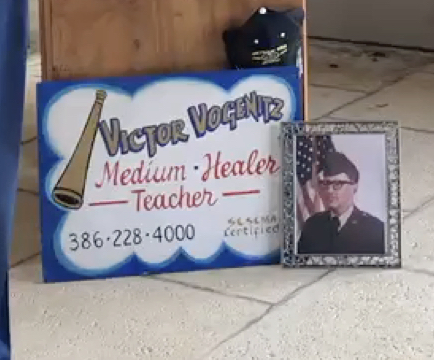 Victors' Military Memorial service March 3, 2020. <br /> That's his sign that hung in the window at the cottage ❤️