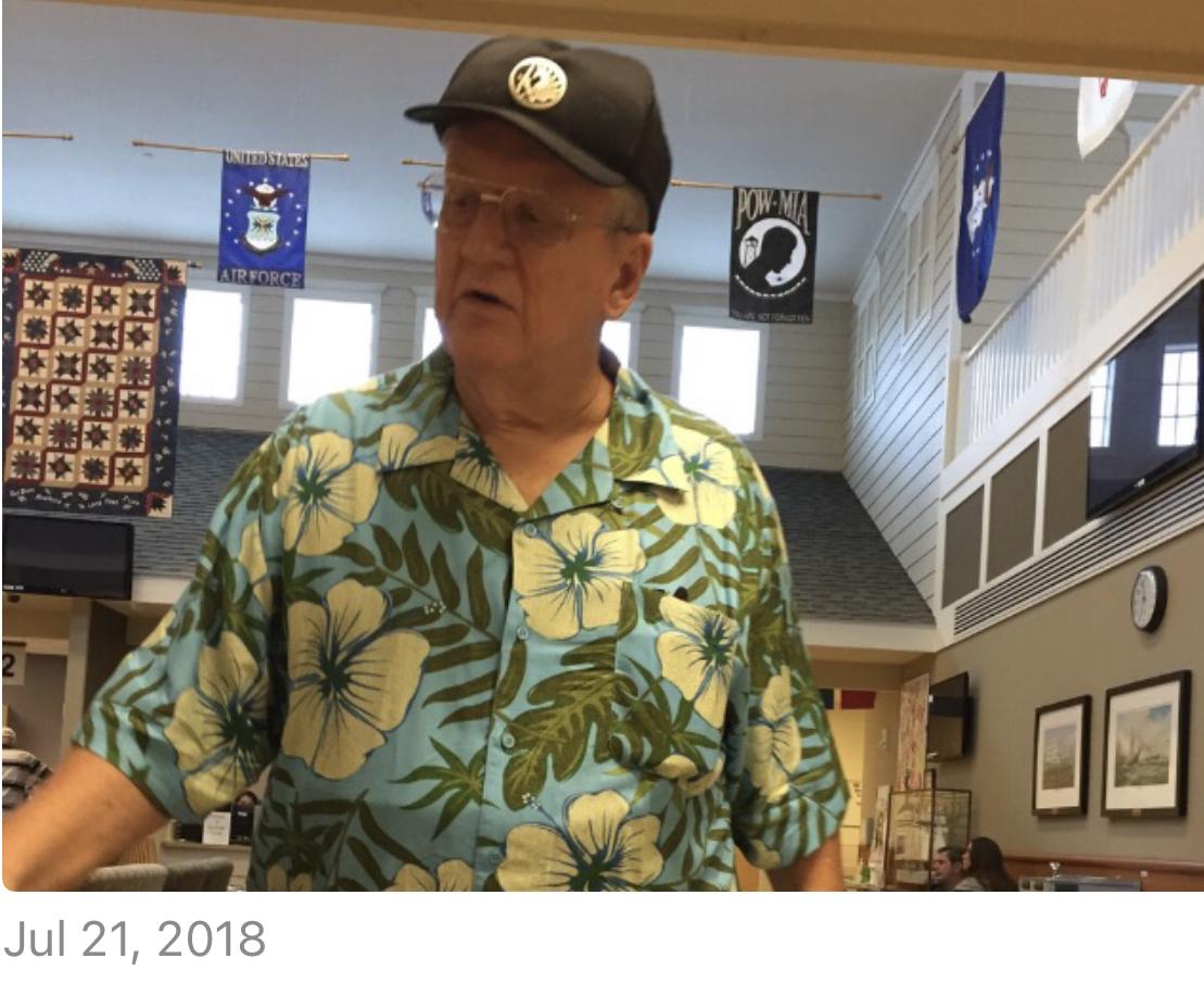 My handsome Vet at the VA. 07.21.18