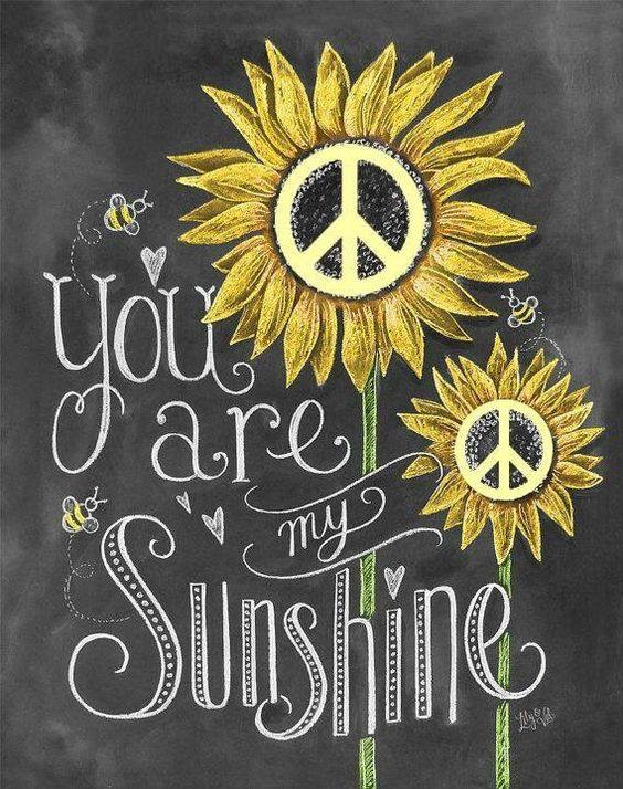 Yes You are! I can't see a sunflower without thinking of you, sweet man ♥️