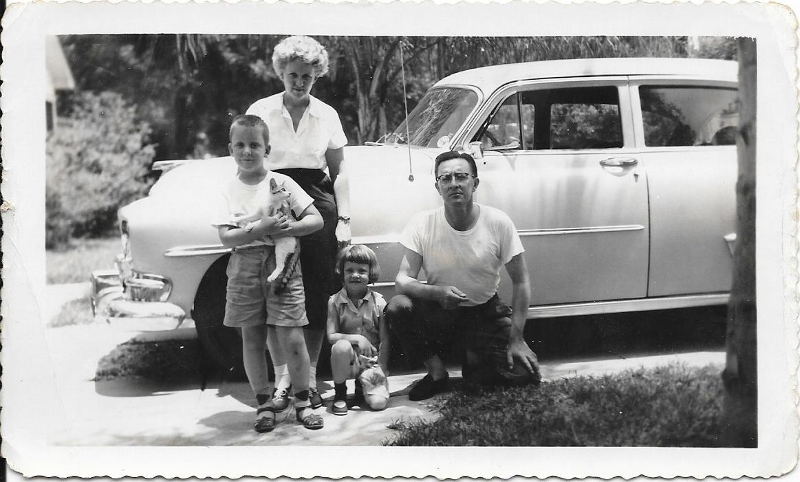 Victor with his family in DeLand Florida in the early 1960's