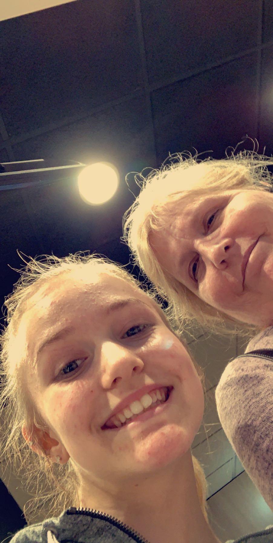 Hailey Johnson with Grandma Spradley