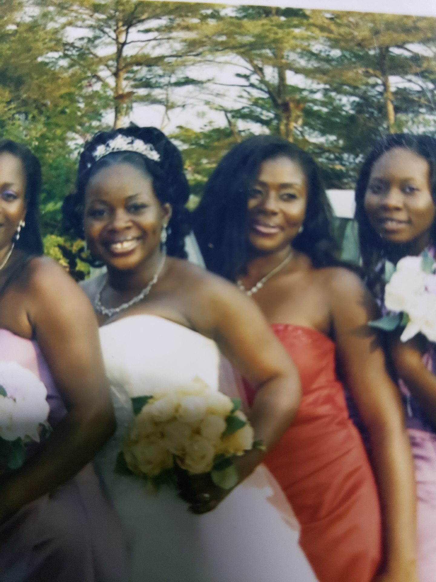 My chief bridesmaid, my twinny. Couldn't get a clearer picture but you're one of the reasons why I'll never forget this day