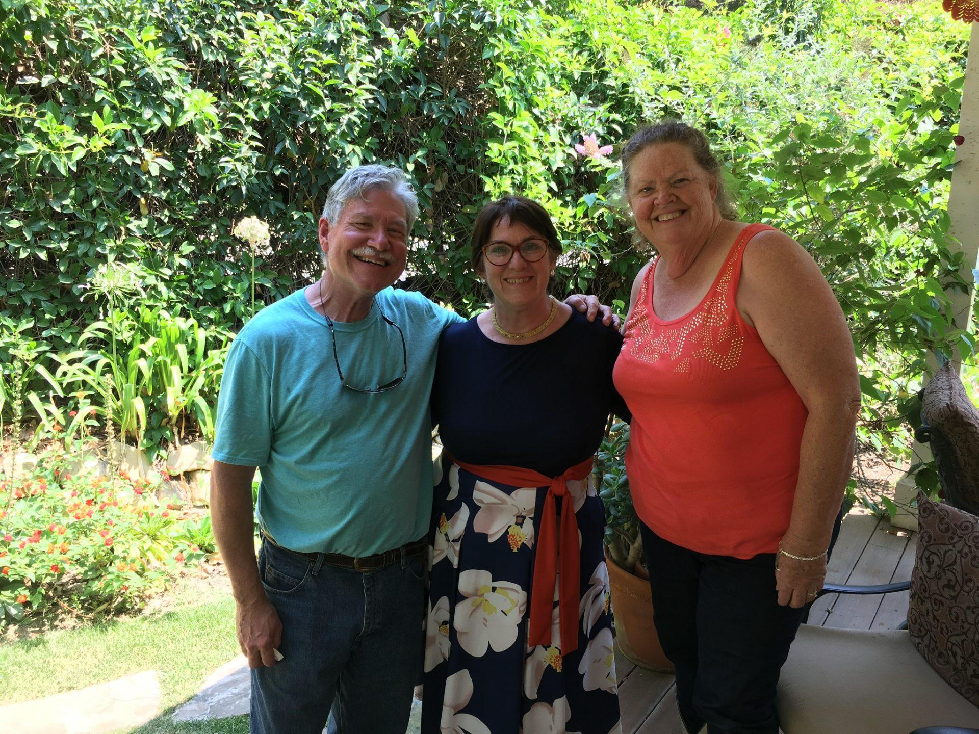 Lane, Peter and Carolyn at Alice Wedding 8/12/18