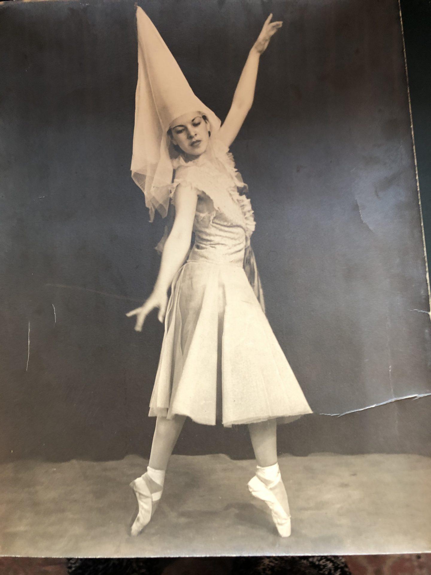 Mom dancing in her 20s.