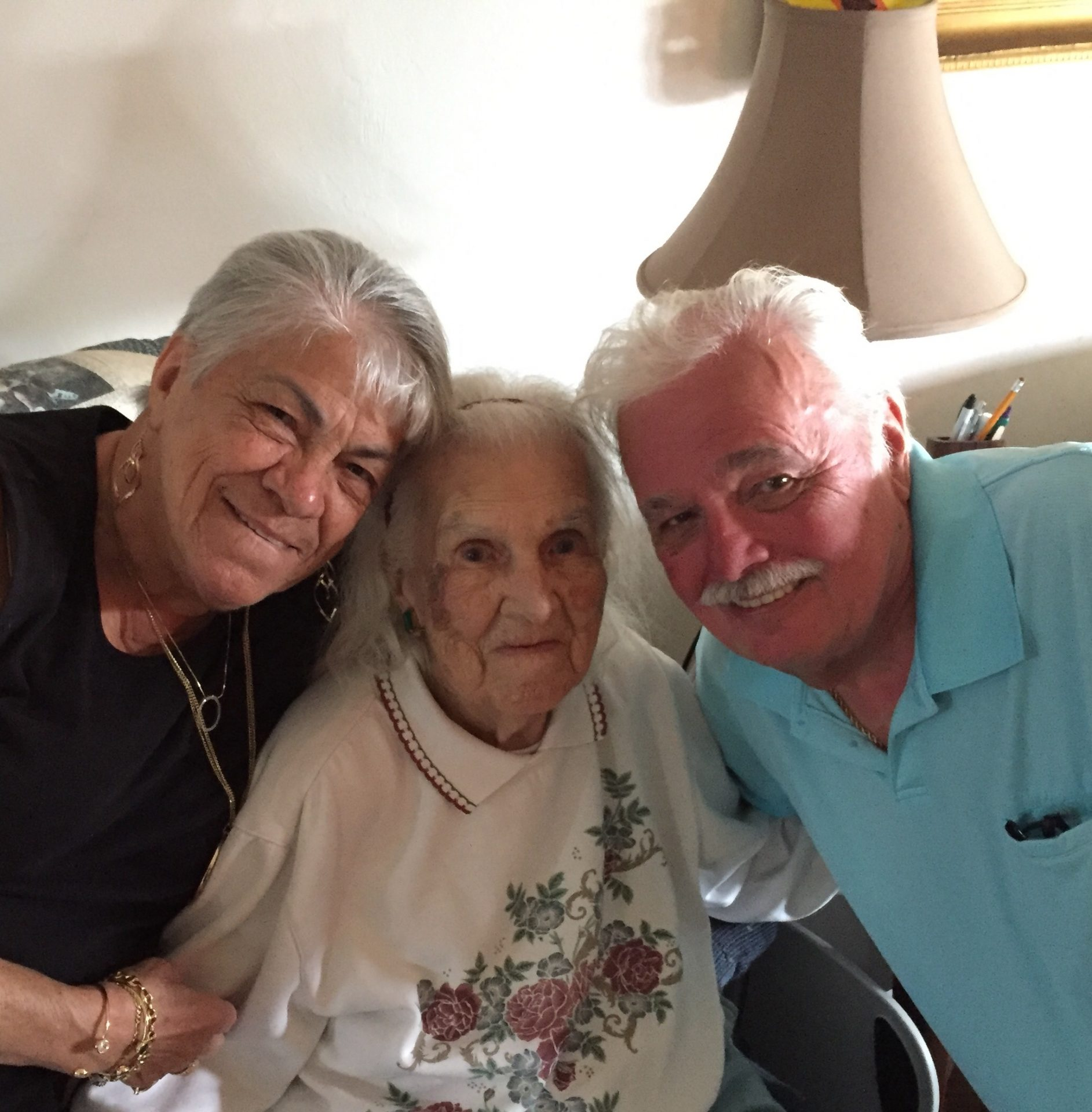 Barbara and George with Mom