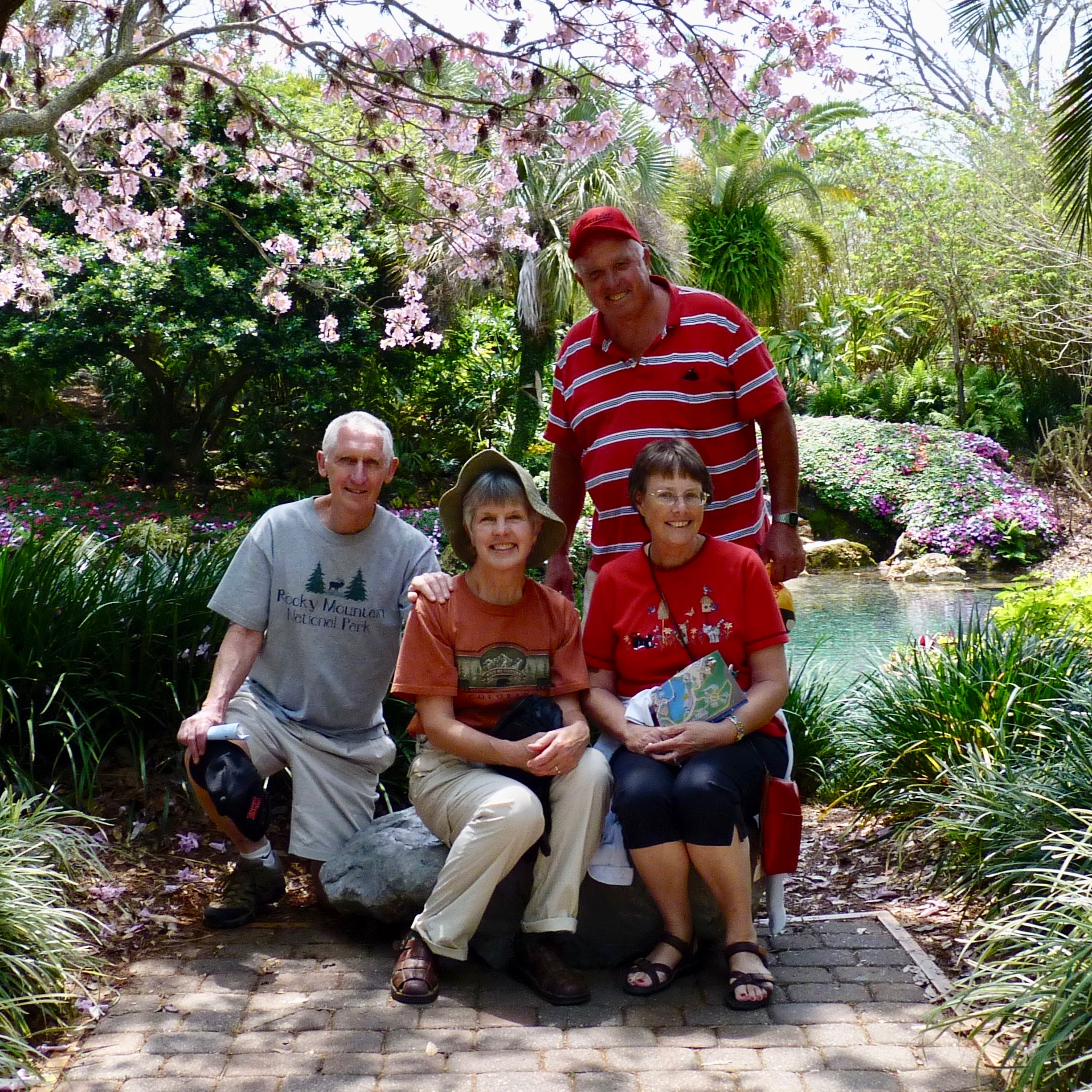 Here's Art on a beautiful Florida day at Sea World with Jim, Gini, and Diane.  A precious memory.