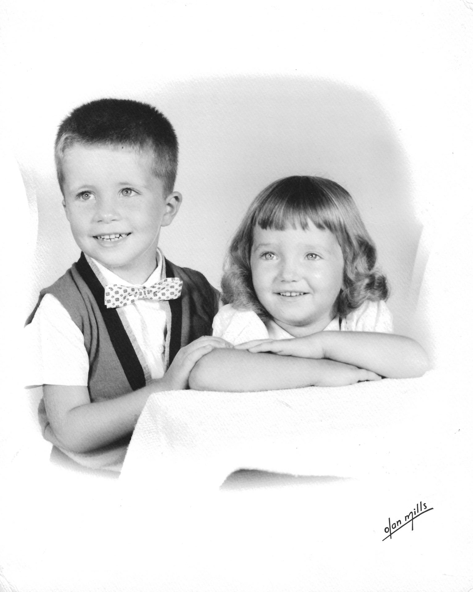 Butch and sister Pam as children