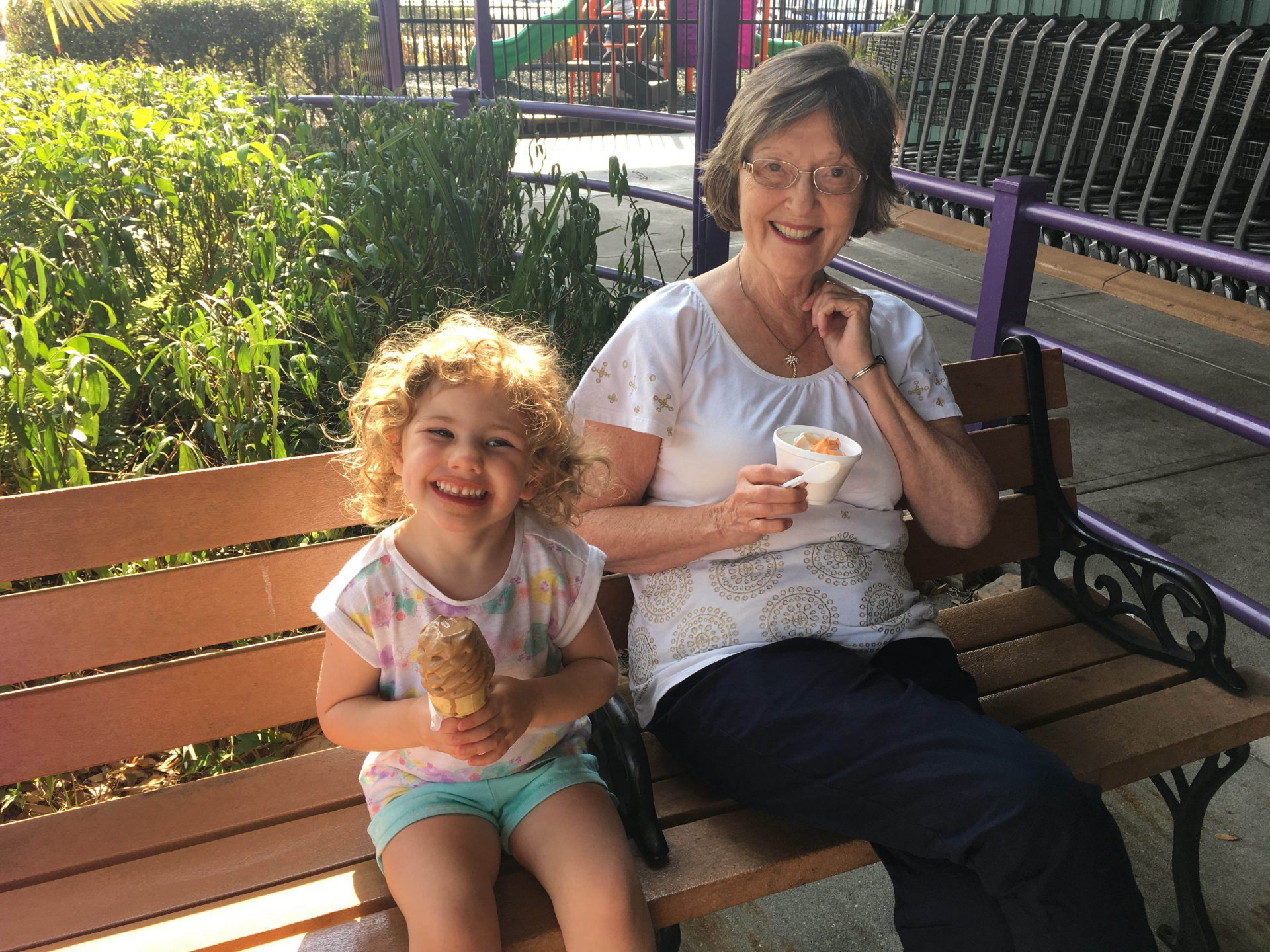 Ice cream treats with Mimi