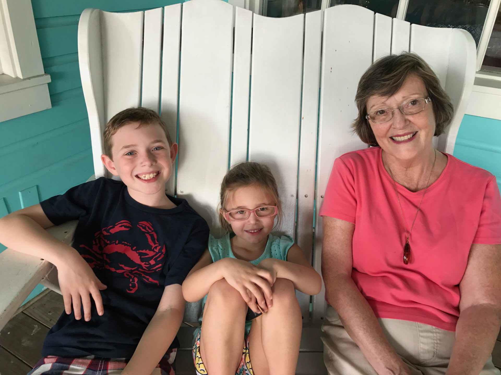 Aidan and Sydney with their Mimi. Their happy place has always been visiting Mimi and Grandpa in Florida.