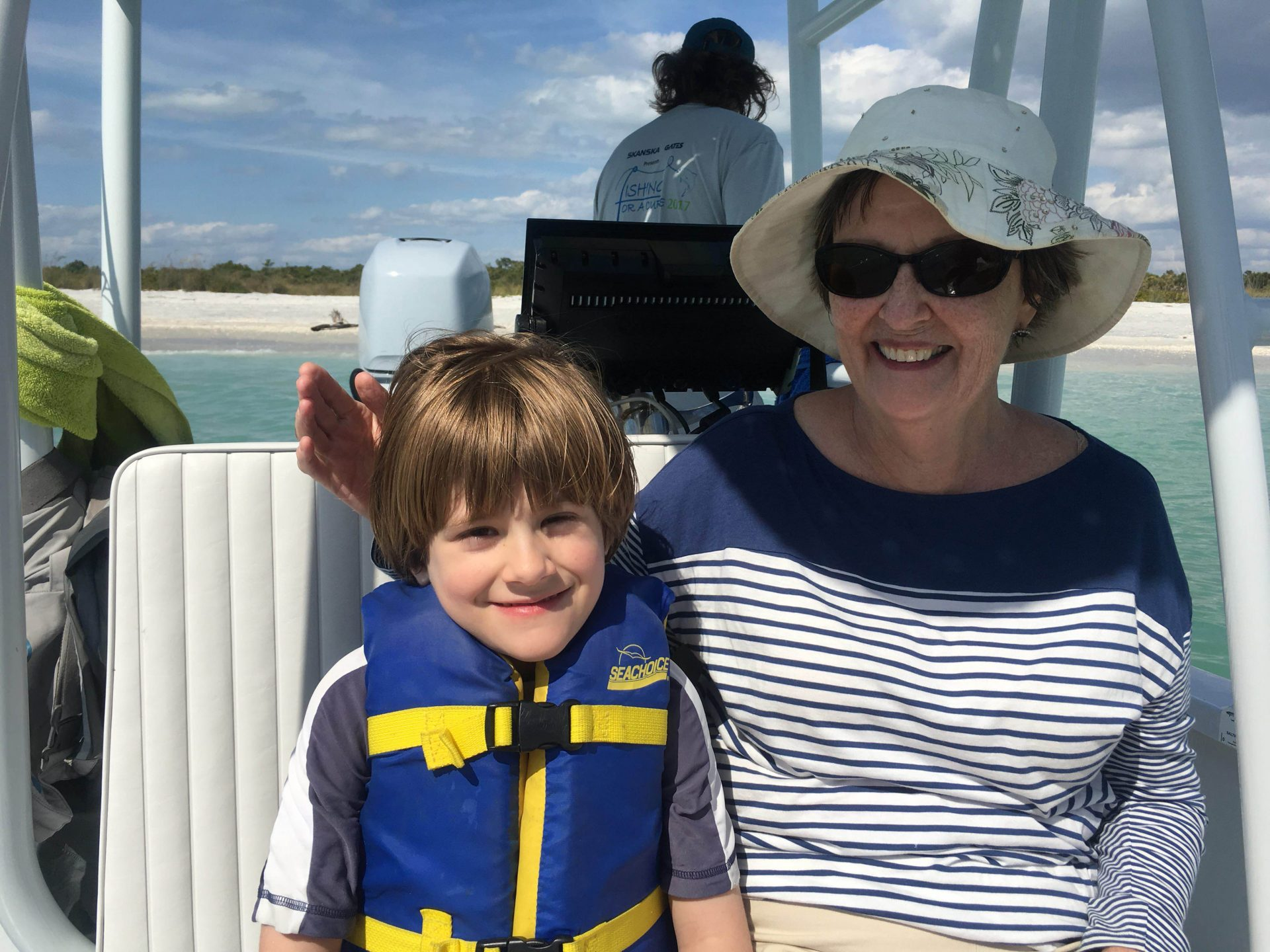 Shelling Boat Ride with my Mimi