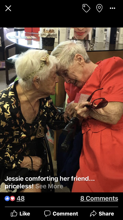 On the Tribute wall I documented this day in December of 2017 when Jessie comforted her friend. I'm so thankful that I was able to capture this moment in time of Jessie and her friend. Now it brings me great joy to know that they are together in heaven.<br /> What an honor to know Jessie and be a part of her life.