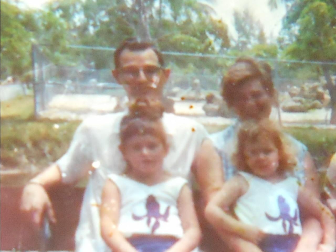 Mom (Janice Beasley Blake)<br /> Dad (Eugene Carlyle Blake Sr)<br /> Little Jan (Janice Eugenia Blake)<br /> Nana (Katherine Nell Blake)<br /> Miami, Florida