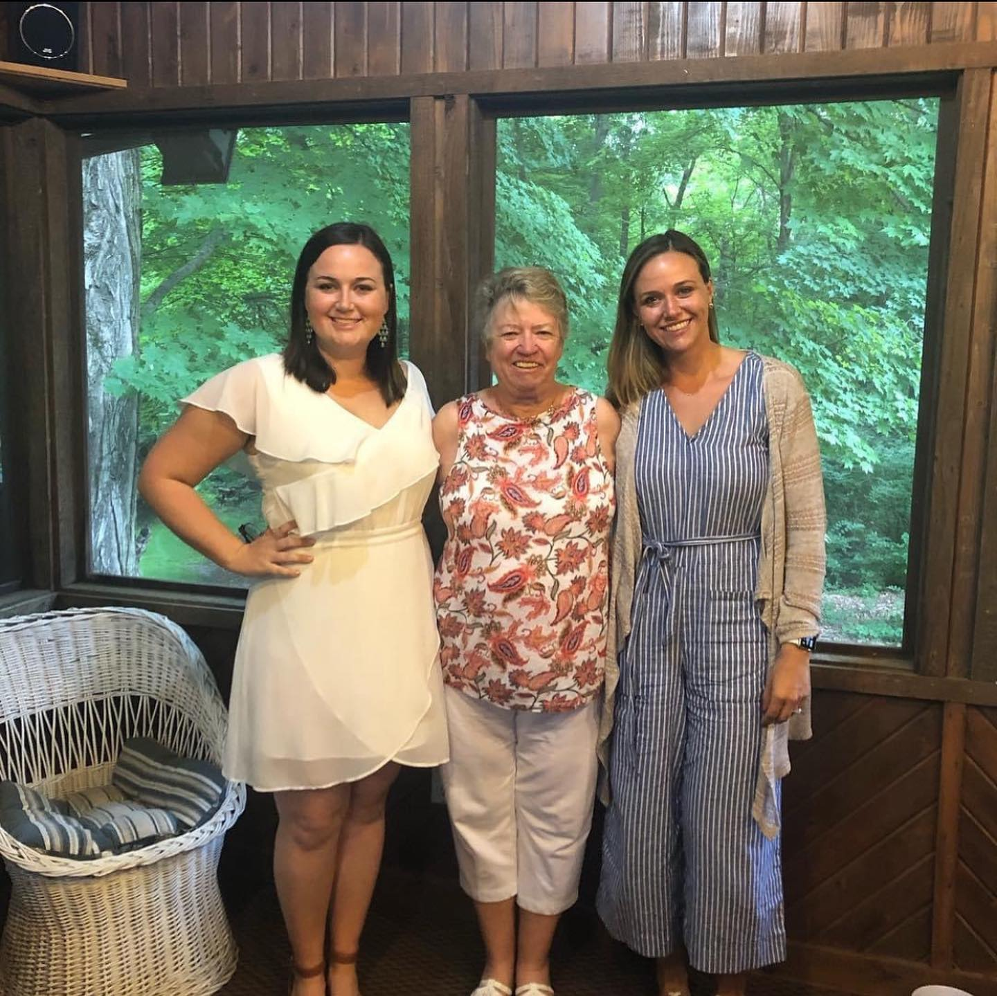 Grammy was so excited about her granddaughters getting married last summer!