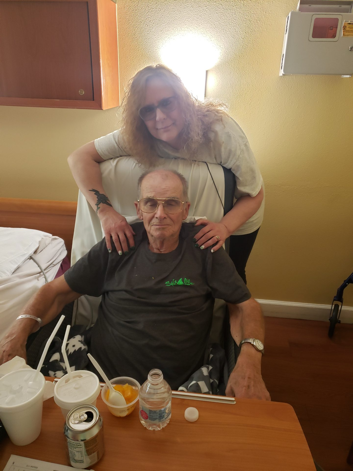 Daddy and me, forever in my heart, I love you so much until we meet again!