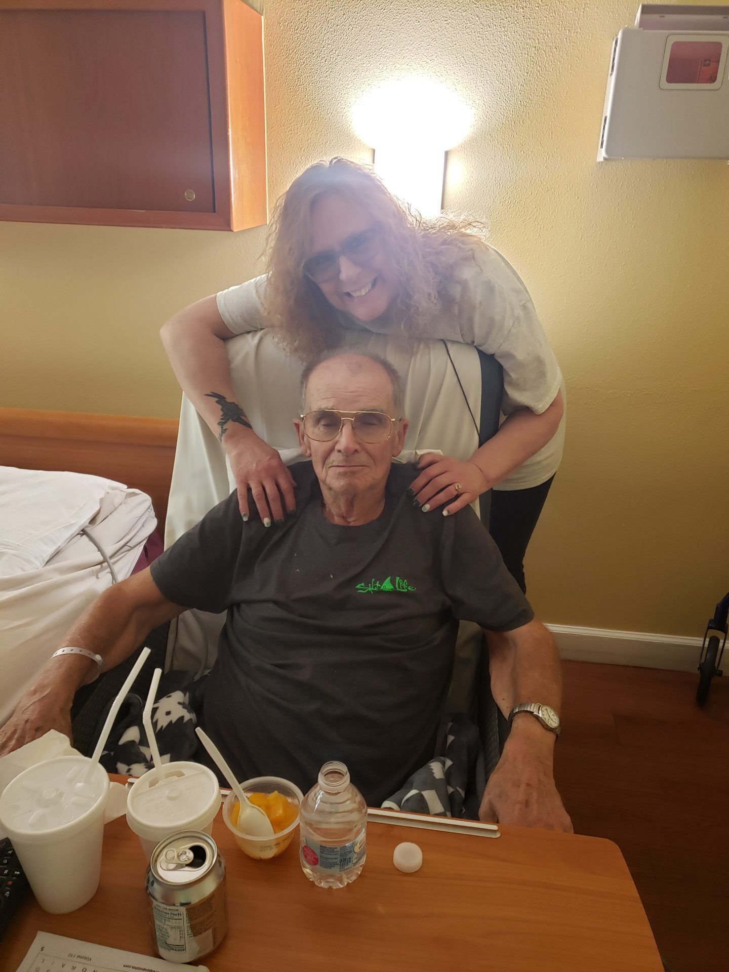 Daddy and I forever in my heart, I love you, intil we see each other again!