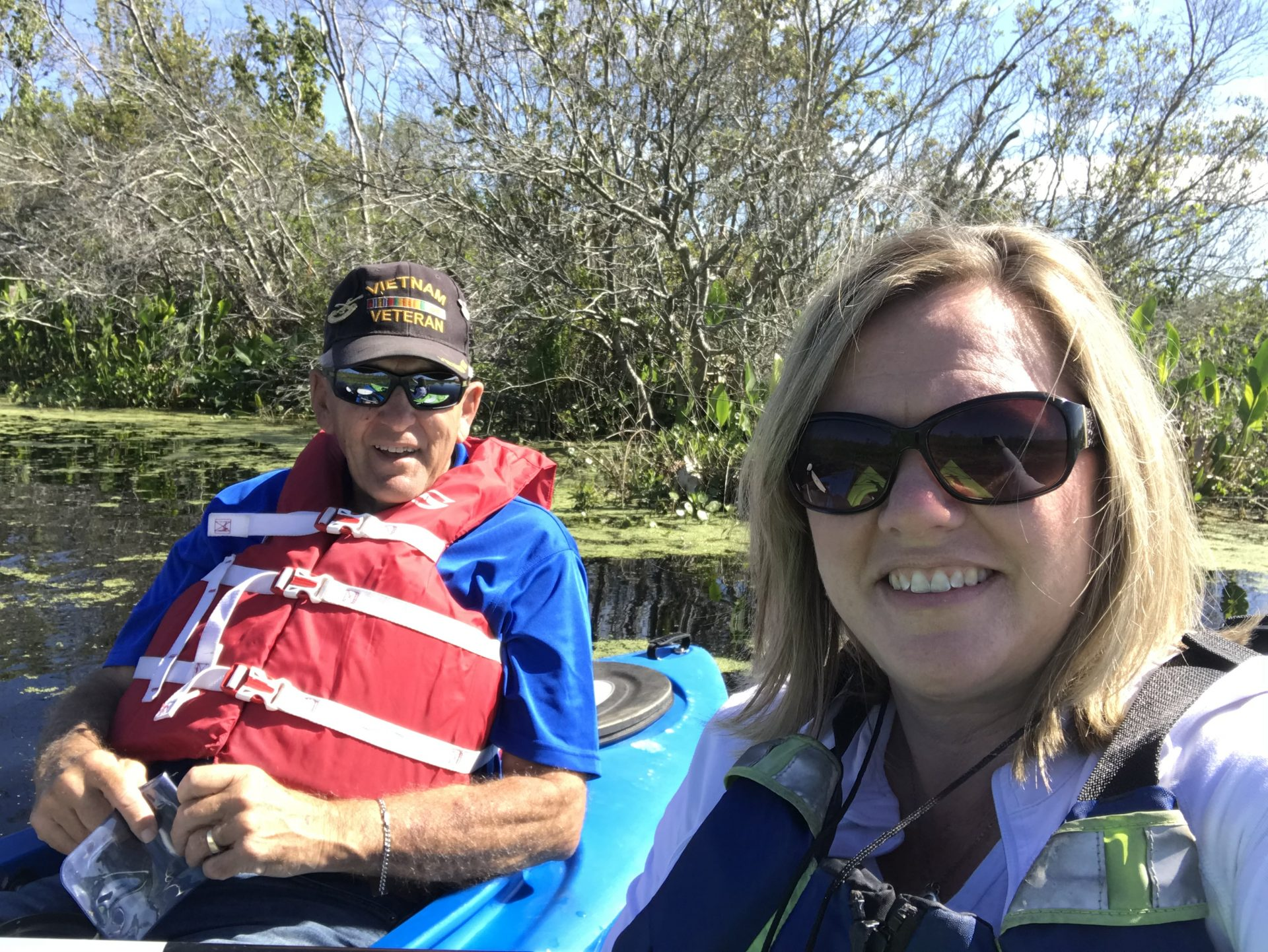 Dad I'm so glad I pushed through my fear to kayak with the alligators, I had a great day kayaking with you. ❤️ You daughter Shannon