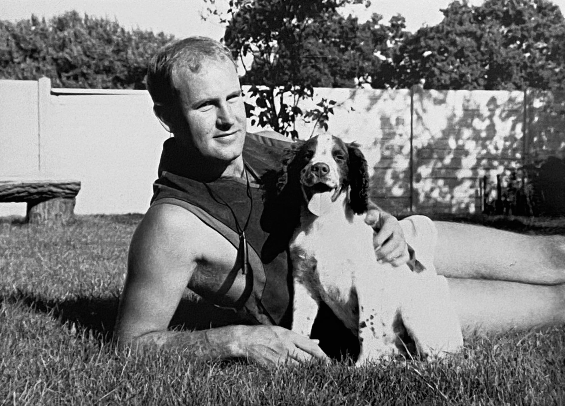 Mark with Tinker the puppy, aged 4 months