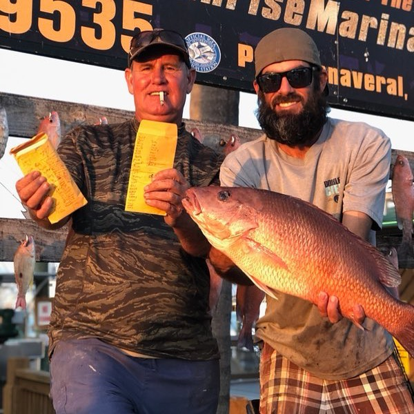 Mark won $827 with a 20.15 pound Red Snapper from the Rolling Red Jackpot. He also won $175 from the Bottom Fish Jackpot with a 7.4 pound Mangrove Snapper. Mark was always so great at catching fish and having a good time. Most importantly just making people smile.