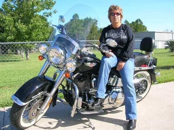 GLORIA ON MOTORCYCLE