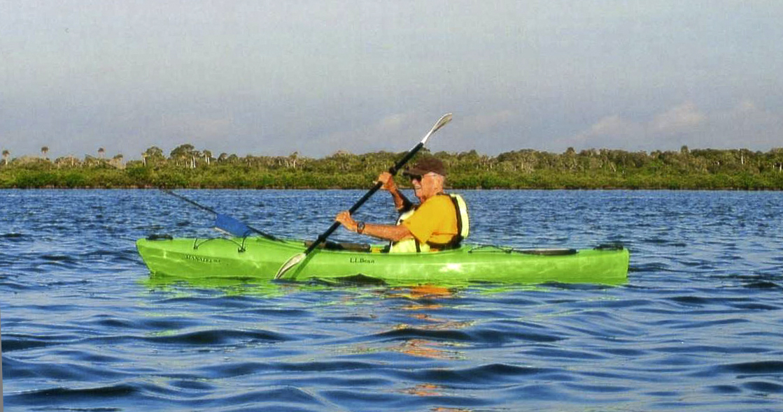 2014 - Richard kayaking in New Smyrna Beach
