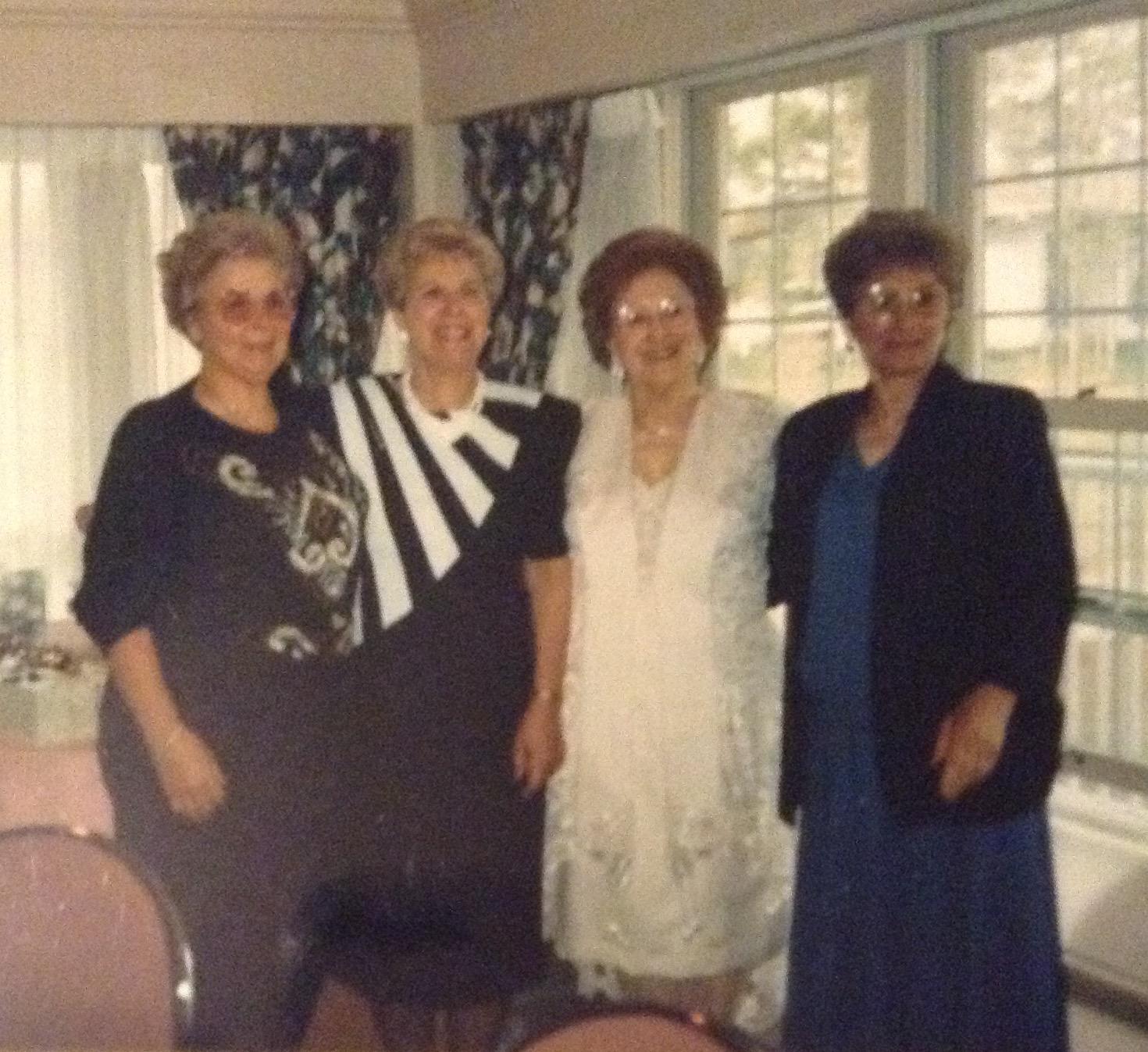 Jean, Anna, Angelina, Mary - the 4 Amico sisters