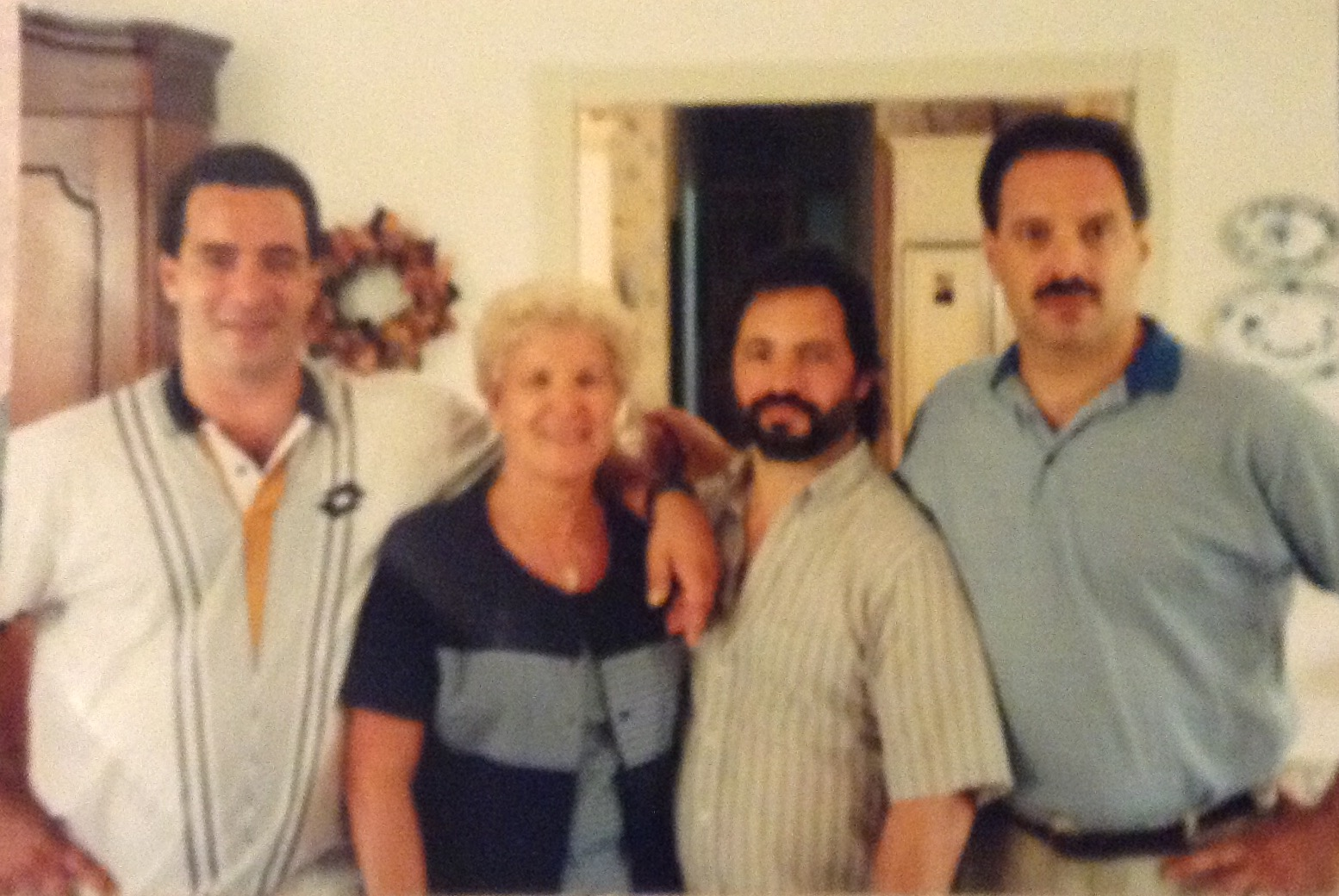 Nick, mom, Joseph, Bob. Mom and her 3 boys