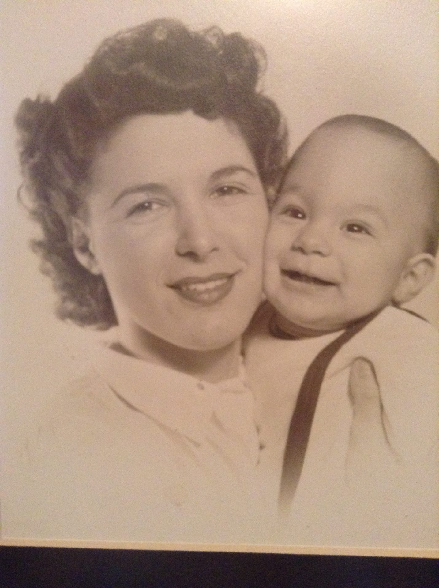 With her first son - 1952