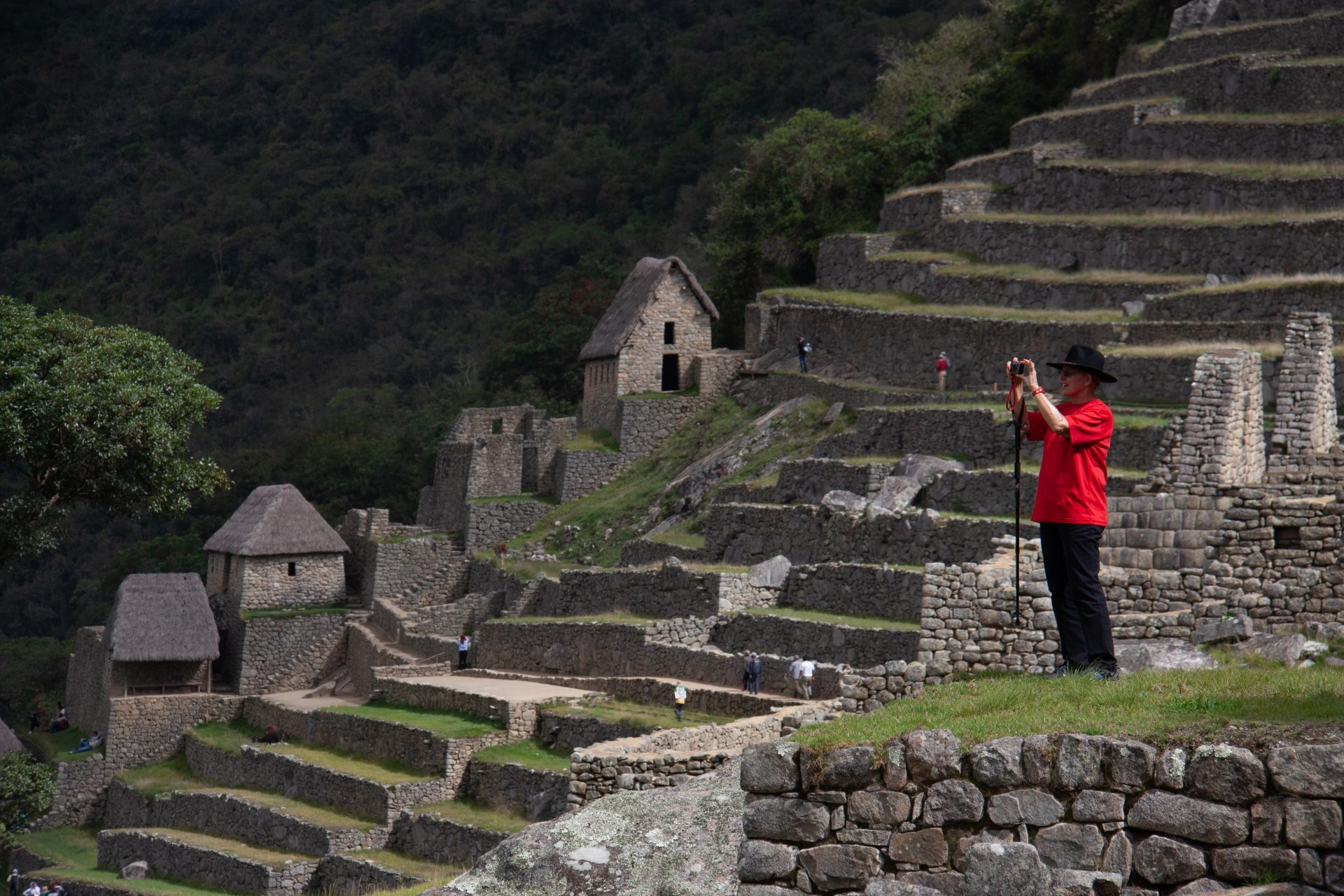 Sandi doing what she loved: travel and imagery.  2012 Machu Pichu