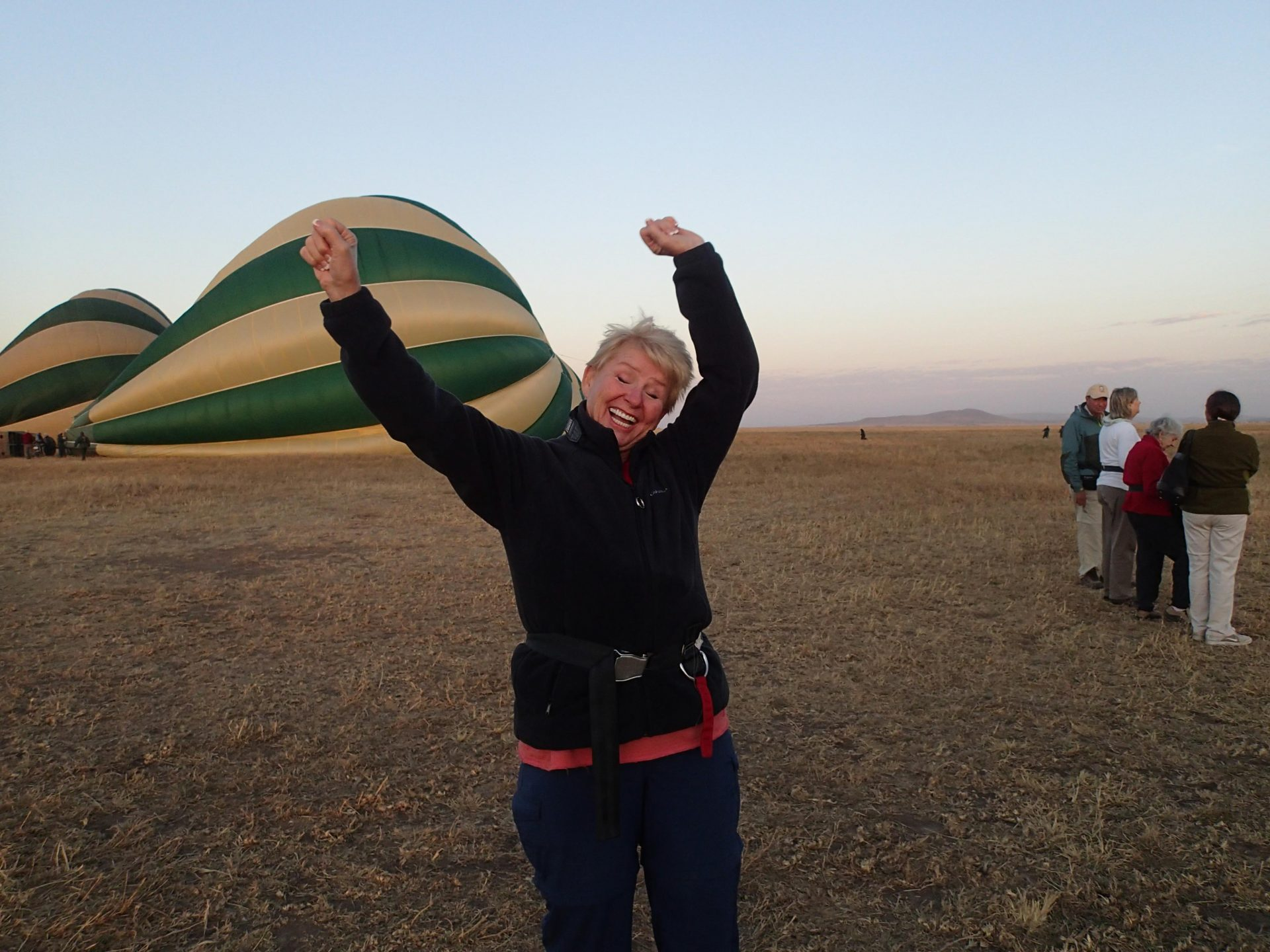 The Serengeti just before a dawn balloon ride.  Christmas present from our husbands