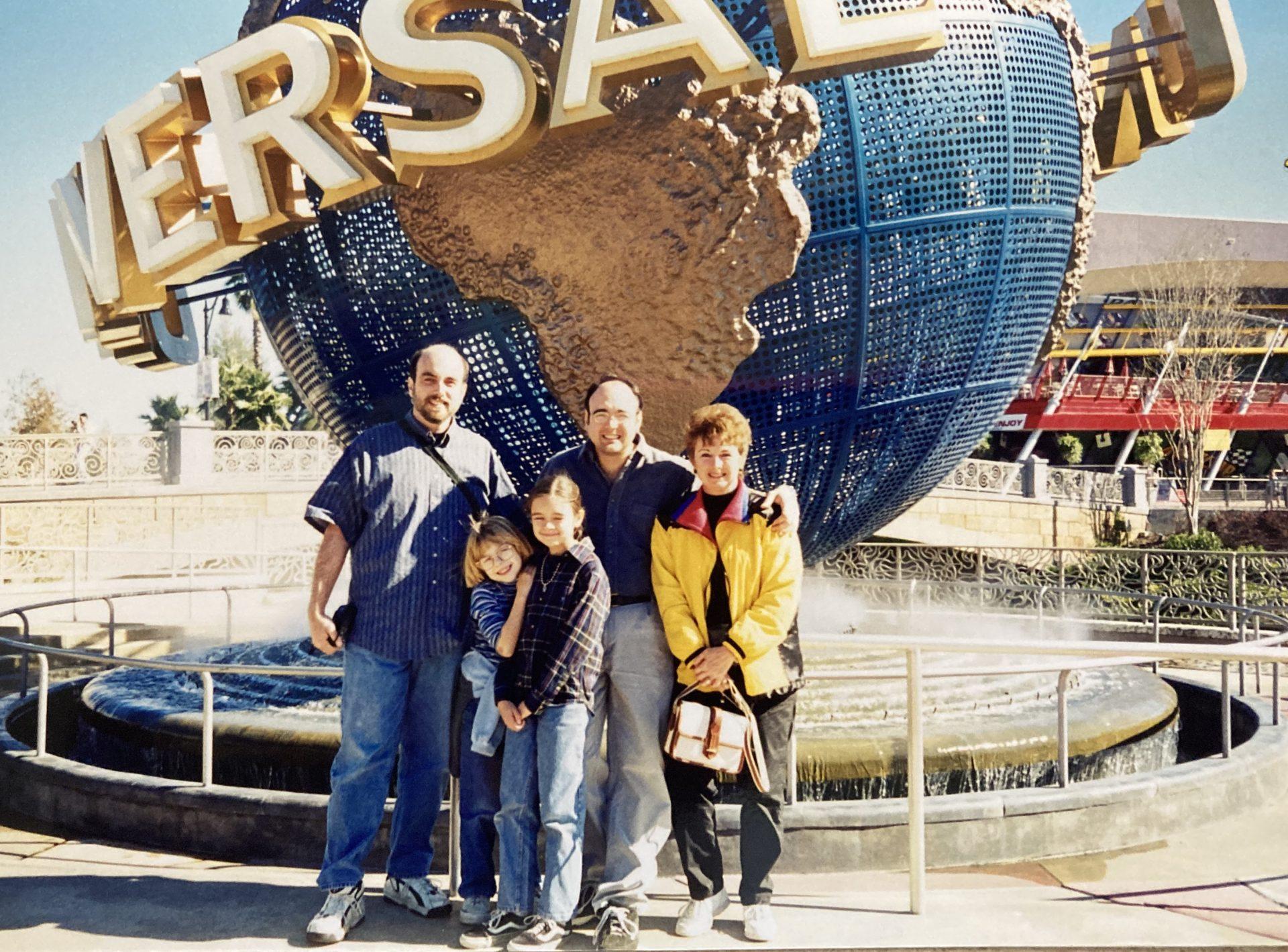 Universal Studios with Grandma and the kids.