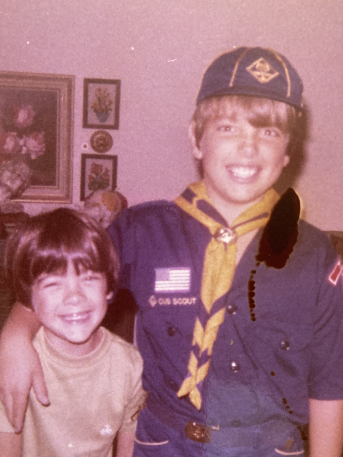 Cub Scout days.