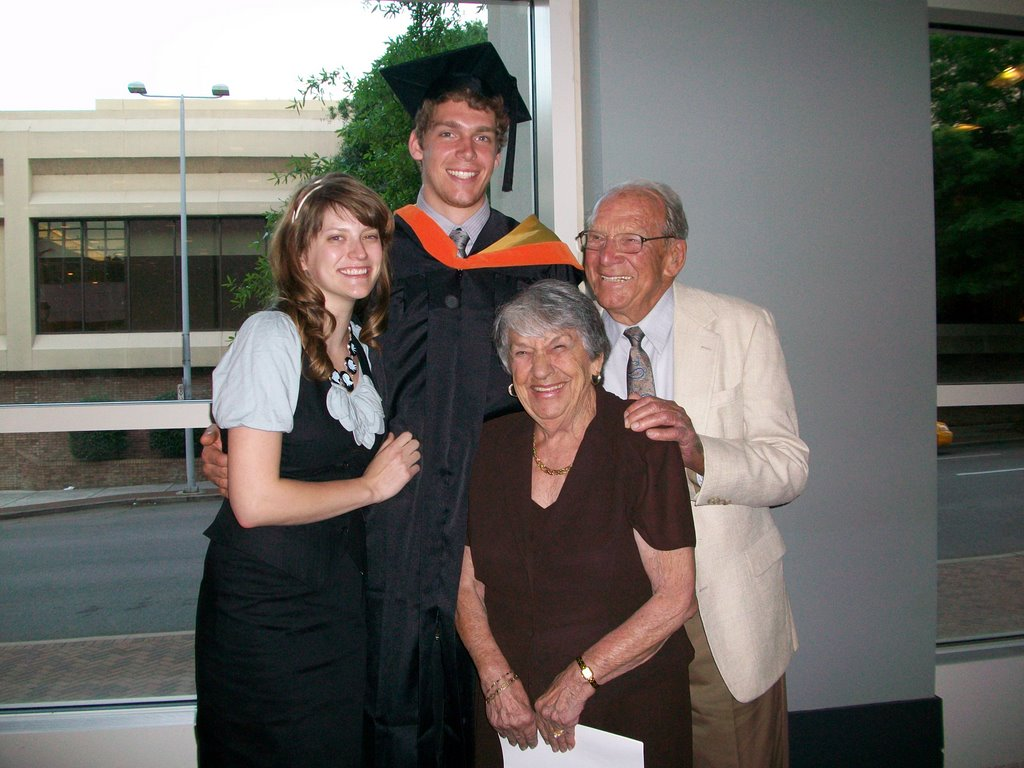 Helen (Nana) and family at Kyle's college graduation.