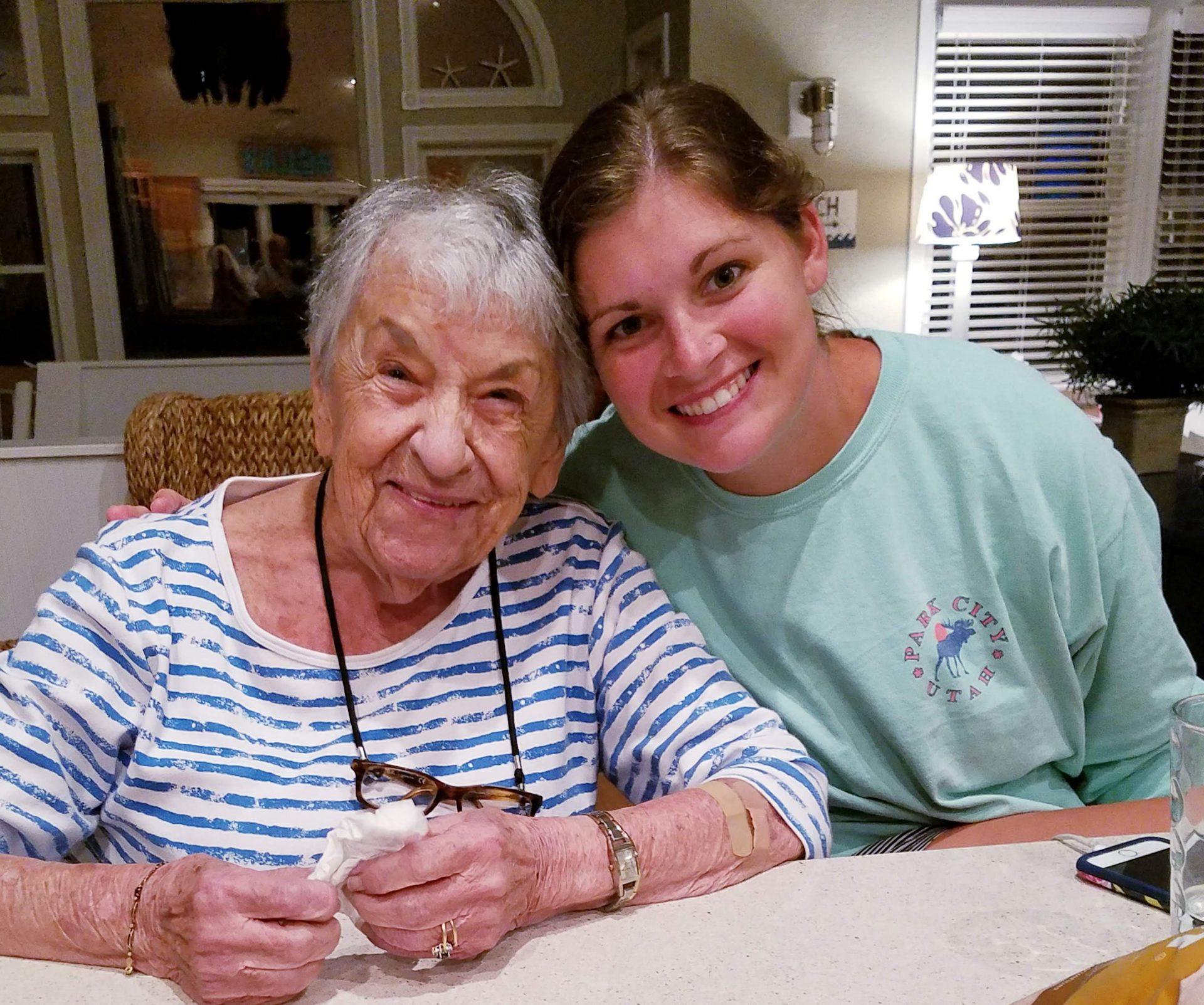 Helen & Aspen (granddaughter)